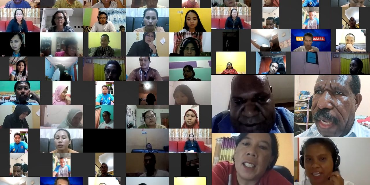 Rapat rutin bulanan online video conference